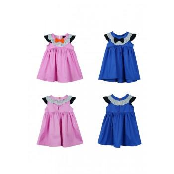 Ruffle Collar Dress - Pink
