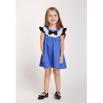 Ruffle Collar Dress - Blue
