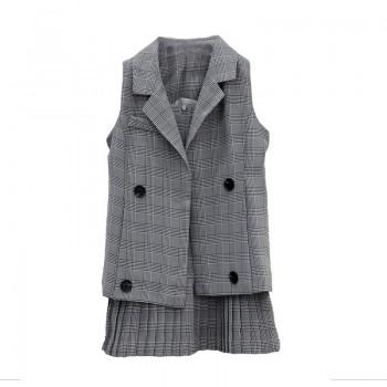 Duchess 2-Piece Set - Grey Gingham