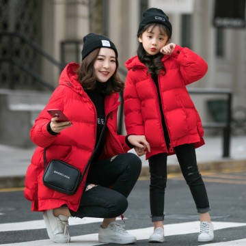Make You Smile Padded Coat - Red