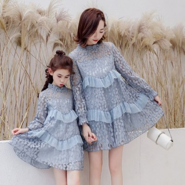 Lacey Dacey Dress - Dusty Blue