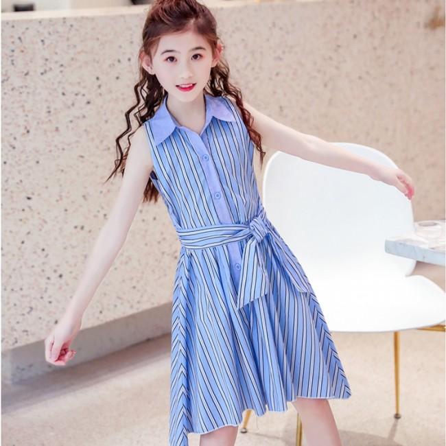 e76b3b65190 Color Block Striped Dress - Blue
