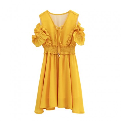 One More Chance Dress / 2-Piece Set (Yellow)