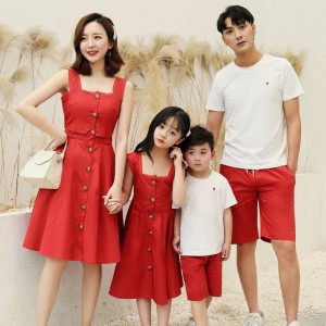 Deep Love Dress / 2-Piece Set (Red)