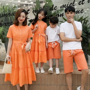 Fated to Meet You Dress / 2-Piece Set (Orange)