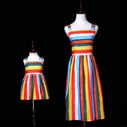 After Rainy Days Rainbow Dress