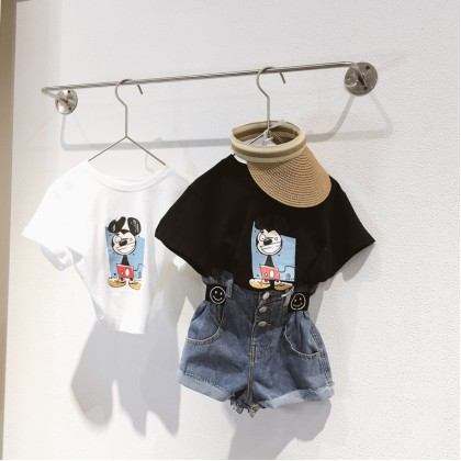 Mickey Mouse Printed Tee - Black