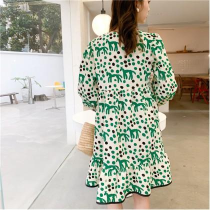 Horse and Polka Dot Print Dress