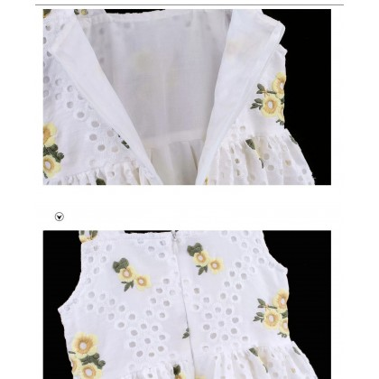 Embroidered Detail Crochet Dress