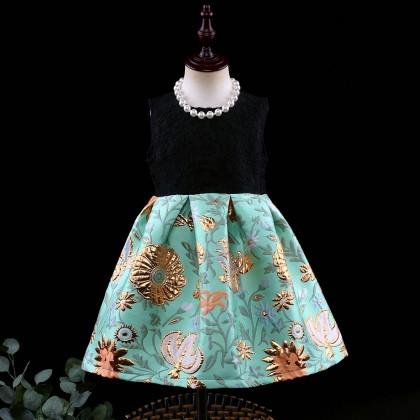 Floral Jacquard Twofer Dress
