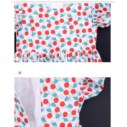Cherry Peplum Dress