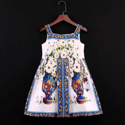 Porcelain Jacquard Dress