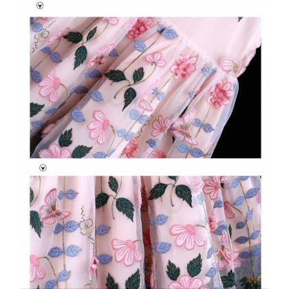 Floral Embroidered Detail Cheongsam