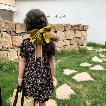 Tie Back Floral Dress