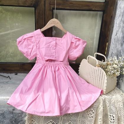 Open Back Solid Dress