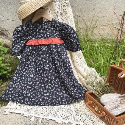 Ruffle Detail Floral Dress