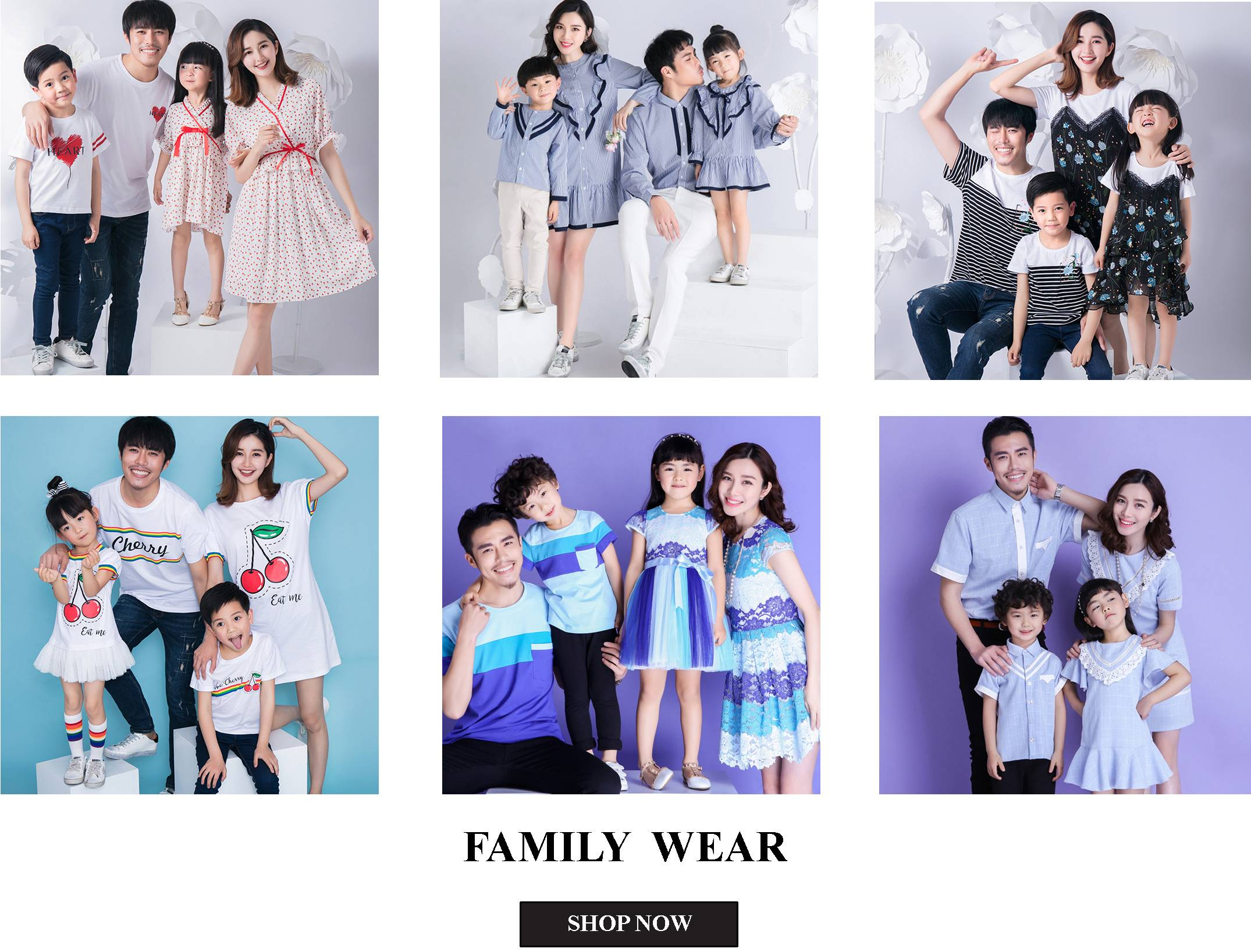 Lovey Dovey Fashion Family Matching Outfits